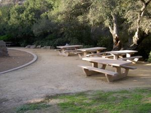 Hans Christian Andersen Park Area C with picnic tables