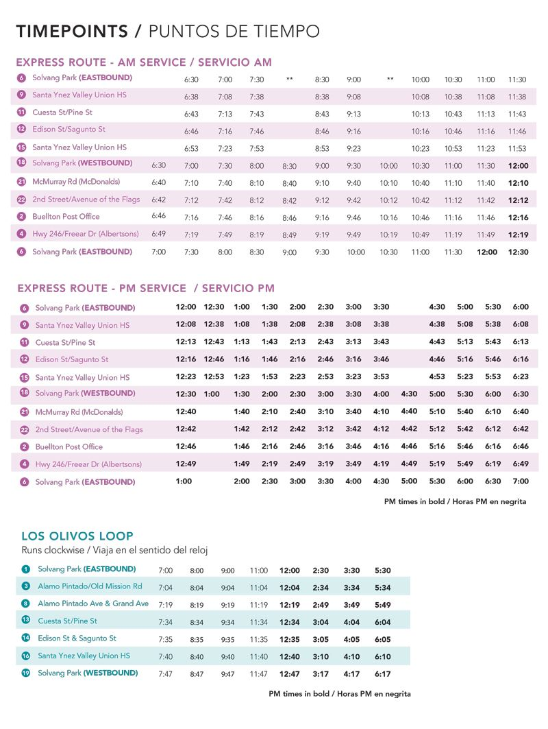 SYVT_Fixed_Route Brochure_January 2018_for web_with timetable