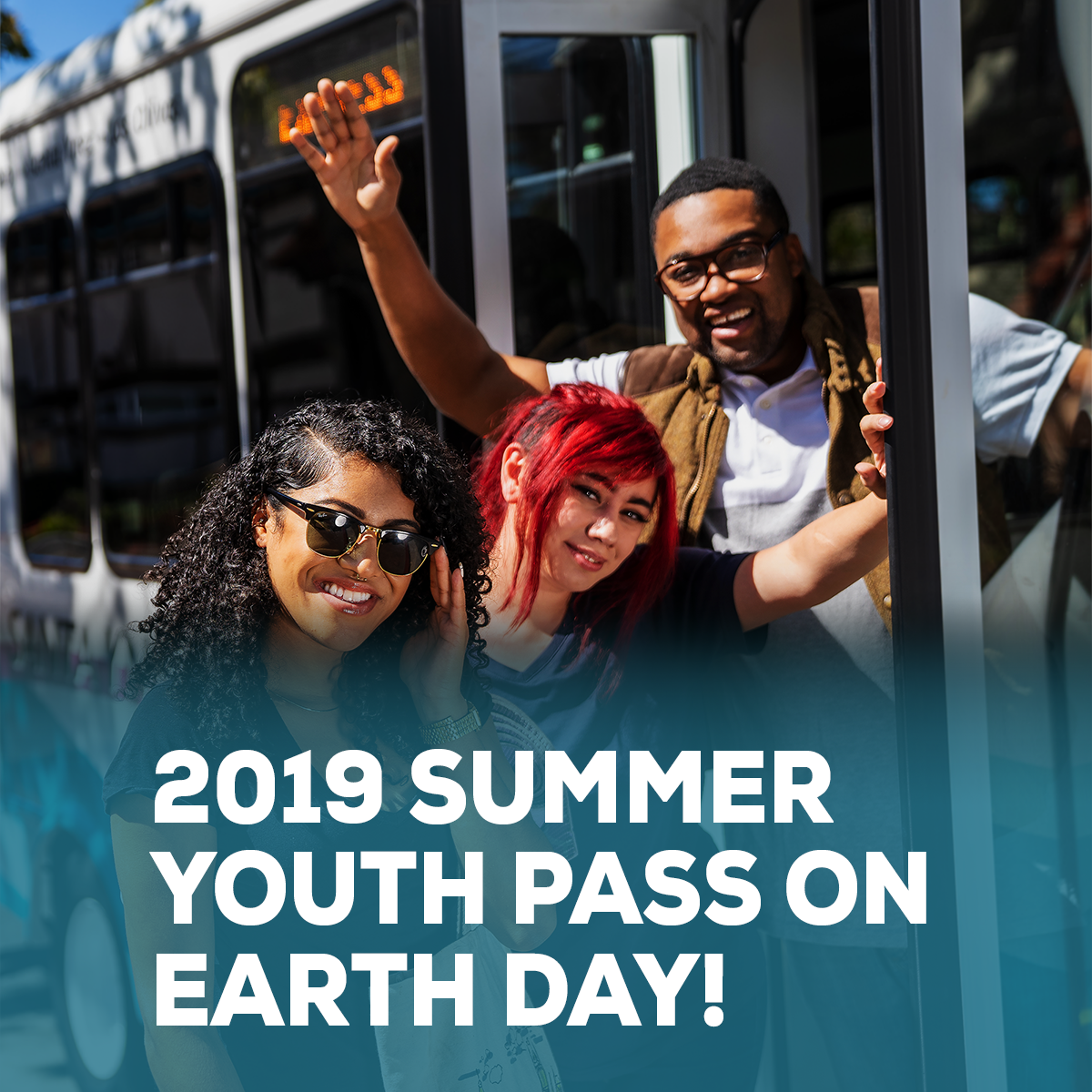 Newsletter graphic_April 2019 Summer youth pass and earthday