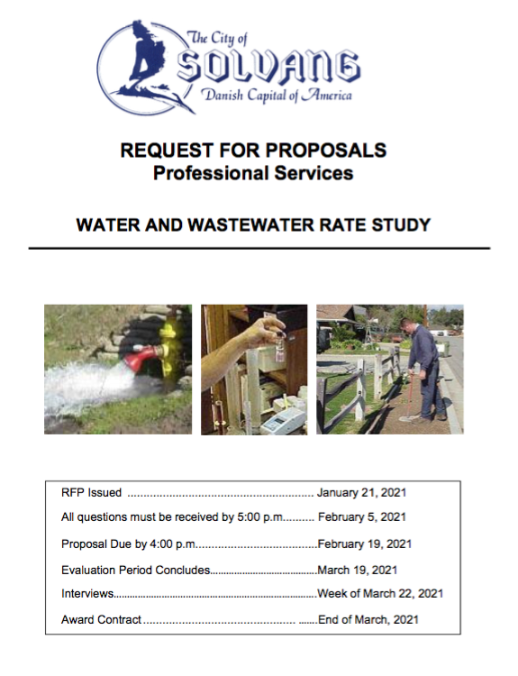 RFP Water-Wastewater Rate Study - 2021